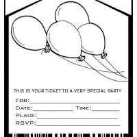 Black And White Party Einladung Best Pool Invitation Templates Free Printable Editable 25 Lovely Balloons Admit One Envelope