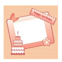 Birthday Cake Frame Scrapbook
