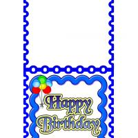 Birthday Card with Curve Border