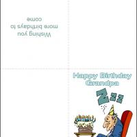 picture regarding Grandpa Birthday Card Printable known as Birthday Grandpa