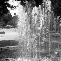 Black And White Fountain Picture