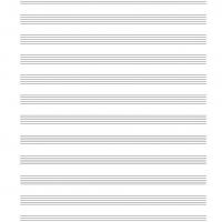 Blank 12 Stave Music Sheet