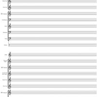 Blank Marching Band Music Sheet