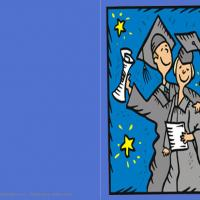 Blue Graduation Card