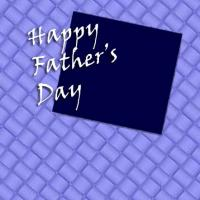 Blue Weave Father's Day Card
