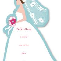 picture relating to Printable Bridal Shower Cards known as Bride Bridal Shower Invitation