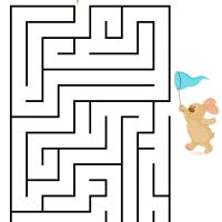 Bunny Chasing Butterfly Maze