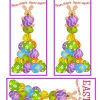 Bunny on Top of Easter Egg Tower Bookmarks