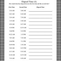 Calculating Elapsed Time Worksheet