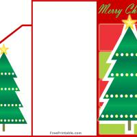 graphic about Free Printable Money Holder Cards titled Xmas Tree Economic Card