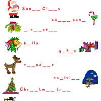 Christmas Worksheet Complete the Word