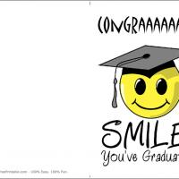 photo relating to Printable Grad Cards referred to as Satisfied Youngsters Commencement Card