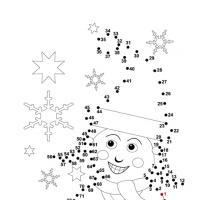 Connect the Dots Reveal the Elf Worksheet