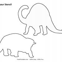 photo regarding Dinosaur Cutouts Printable identify Dinosaur Stencil
