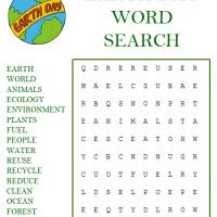 graphic relating to Earth Day Word Search Printable referred to as Planet Working day Term Appear