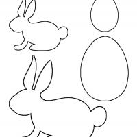 photograph relating to Easter Bunny Printable Template identified as Easter Bunny and Egg Template