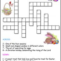 photo relating to Easter Crossword Puzzles Printable referred to as Easter Crosswords for Small children