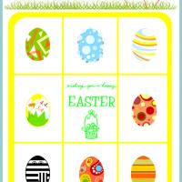 Easter Eggs Bingo Card Number 2