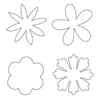 Flower Shaped Template