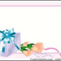 Gift And Peach Rose Gift Card