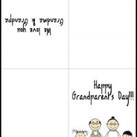 picture relating to Grandparents Day Cards Printable referred to as Grandparents with Small children