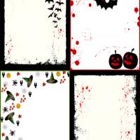 Halloween Gift Cards with Four Design