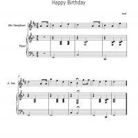 Happy Birthday For Saxophone