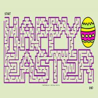 graphic regarding Easter Maze Printable known as Satisfied Easter Maze