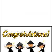 graphic relating to Printable Grad Cards titled Satisfied Children Commencement Card