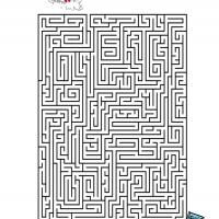 photo relating to Printable Mazes Hard titled Challenging Ski Maze