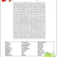 Healthy Food Word Search