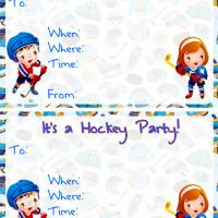 Hockey Party Invitation Cards