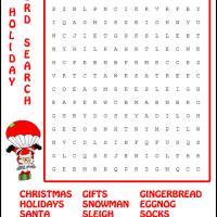 Holiday Santa Parachute Word Search