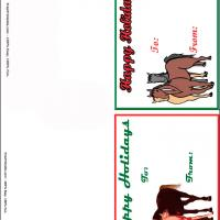 Horses Holiday Gift Cards