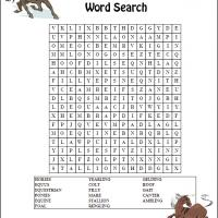Horses Word Search