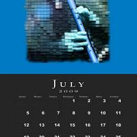 July Music Theme Calendar