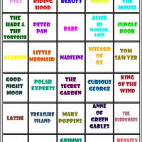 Love To Read Bingo Tiles