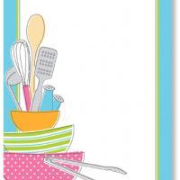 Kitchen Utensils Blank Bridal Shower Invitation