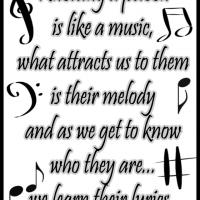 Knowing a Person is Like a Music