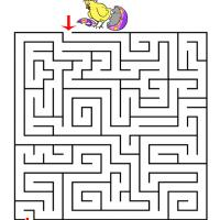 Little Chicks Printable Maze