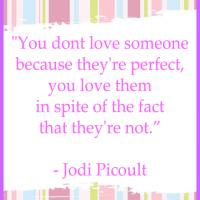 Love Someone Not Because They're Perfect