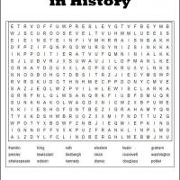 Men In History Word Search