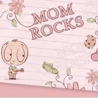 Mom Rocks Postcard