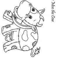 Moo the Cow Coloring Sheet