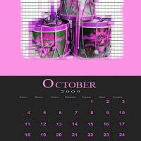 October Music theme Calendar