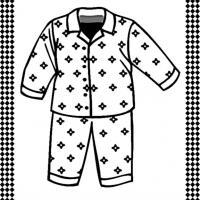 Pajamas Flash Card