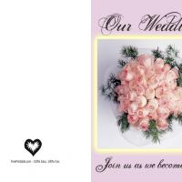 Peach Rose Wedding Invitation