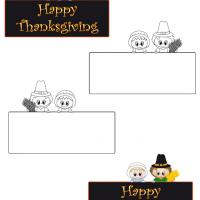 Pilgrims Thanksgiving Place Cards