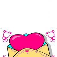 Pink Heart In Envelope
