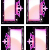 Pink Princess Crown Gift Tags